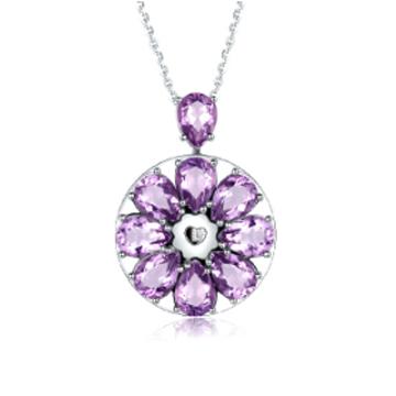 心有�`犀-天然紫水直接消散晶吊��