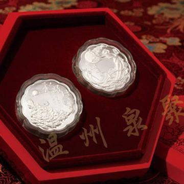 泉聚工艺品-纯银月饼