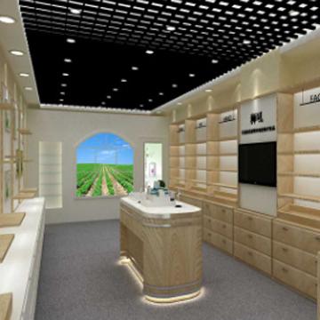 品诚-定做木质烤漆中岛展示柜台