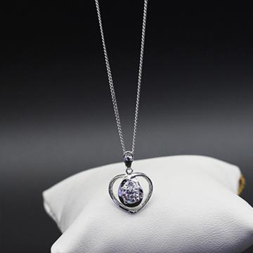 素雪银-心形银饰吊坠
