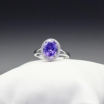 素雪银-经典宝石戒指