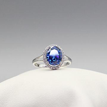 素雪银-精品蓝宝石戒指