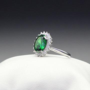 素雪银-镶嵌宝石戒指