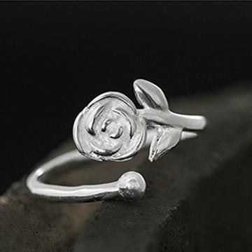 老银铺-玫瑰开口戒