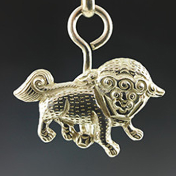 晋福银楼-纯银吊坠铃铛银锁项链长