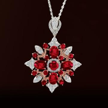 伊势珠宝-红宝石吊坠