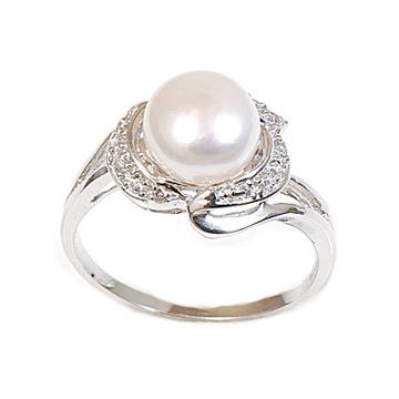 甄彩珠宝-时尚大气珍珠戒指