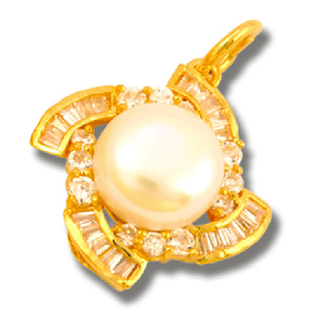 东升珠宝-黄金珍珠吊坠吊坠