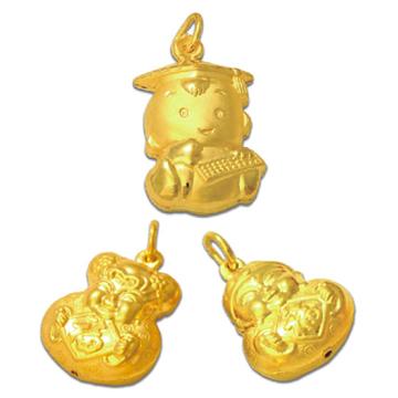 东升珠宝-时尚黄金吊坠