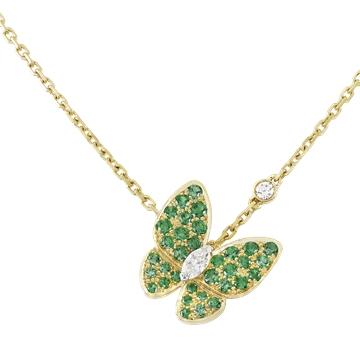 芭莎珠宝Two-Butterfly-吊坠项链