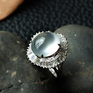 ��珠��玉石戒指