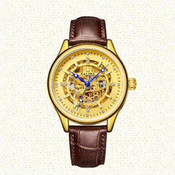 爱尚金表-尊贵系列蓝宝石棕带表