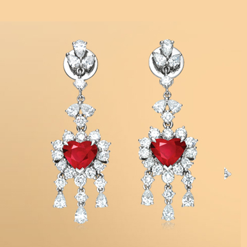 景福珠宝红宝石耳坠