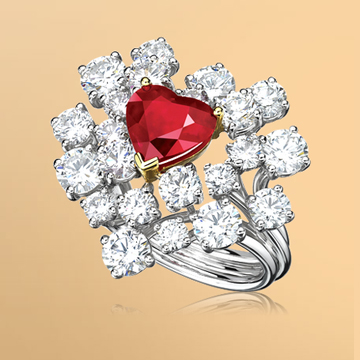 景福珠宝红宝石戒指