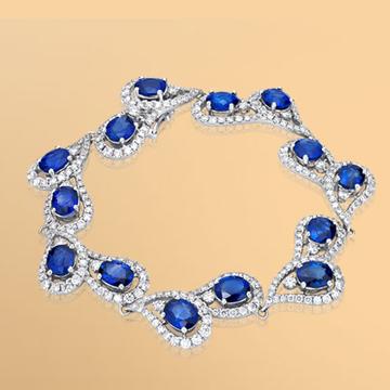 景福珠宝蓝宝石手链
