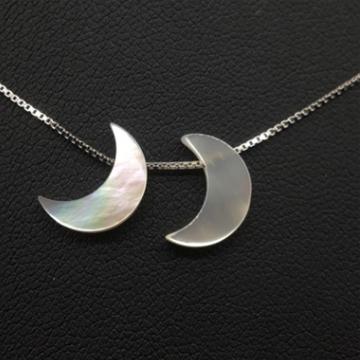 艾宝饰品-925银月亮贝壳项链