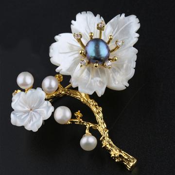 艾宝饰品-花朵胸茶