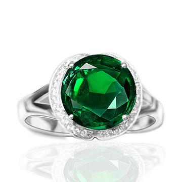 齐鲁宝玉石-18K绿宝石