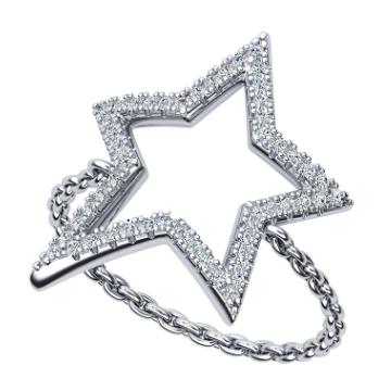 GOSING-锁链五角星戒指