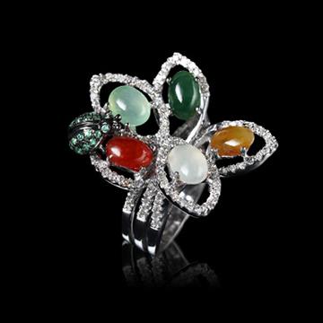 瑷美珠宝-精美宝石镶嵌戒指