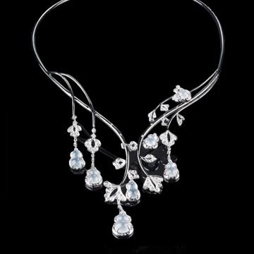 瑷美珠宝-套链系列白色项链