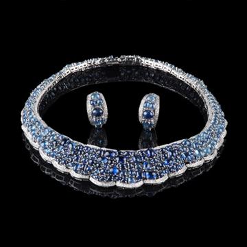 瑷美珠宝-套链系列精美蓝链