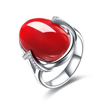 銘顯珠寶-紅珊瑚戒指