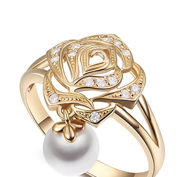 玛芮·贝蓝K金戒指
