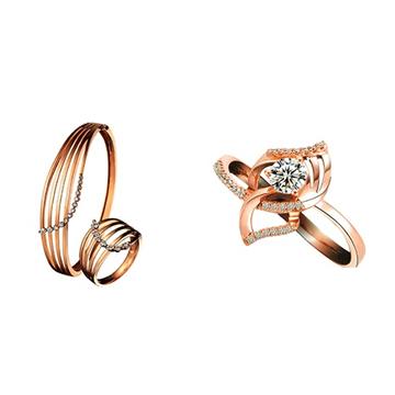 玛芮·贝蓝K金时尚戒指