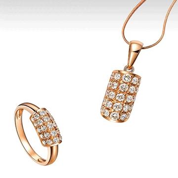玛芮·贝蓝K金钻石镶嵌饰品吊坠