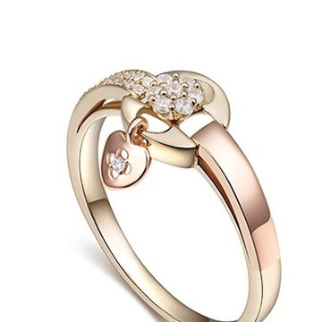玛芮·贝蓝时尚K金戒指
