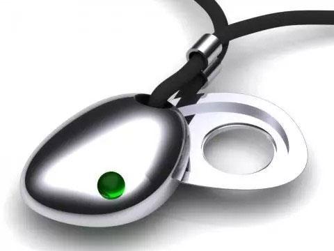 CSR蓝牙智能珠宝,是一个项链。