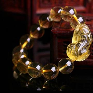 念菩堂-黄水晶貔貅手链