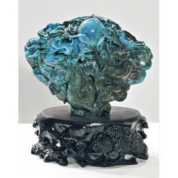 松石堂-天然绿松石雕刻件-宝贝号18