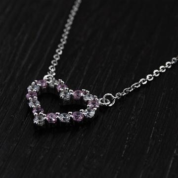 雎集珠宝纯银心形吊坠