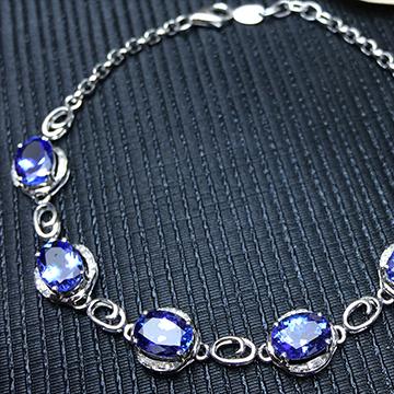 宇彩珠宝S925银饰手链