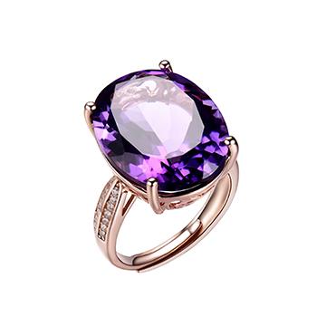 宇彩珠宝S925银饰镶嵌戒指