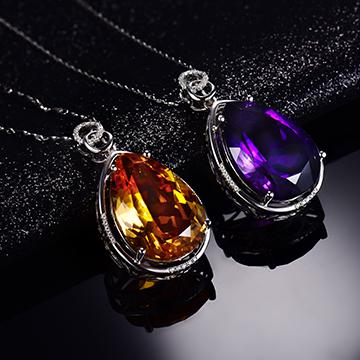 宇彩珠宝S925银饰项链