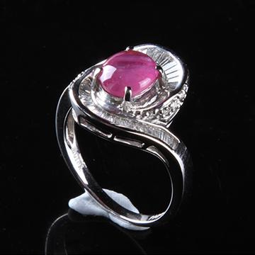 我爱珠宝城红宝石18K金戒指