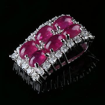 我爱珠宝城红宝石18K金镶嵌挂件