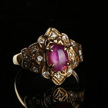 我爱威尼斯娱乐棋牌手机版城红宝石镶嵌戒指