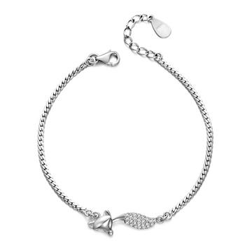 火星银饰鱼型银饰手链