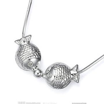同和裕银楼银饰小鱼吊坠