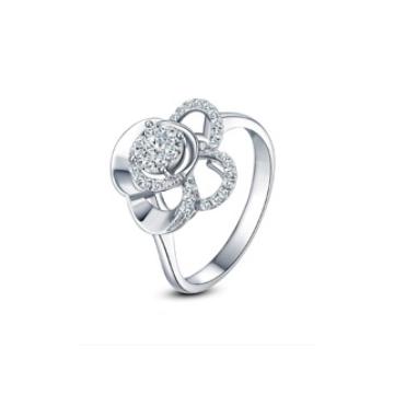 黄金珠宝投资-时尚K金系列钻石戒指