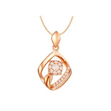 黄金珠宝投资-时尚吊坠系列精美钻
