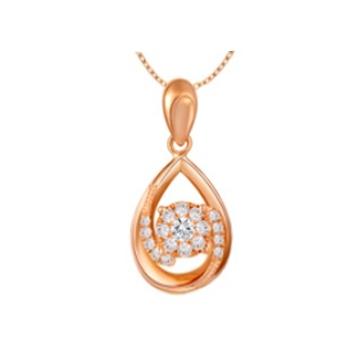 黄金珠宝投资-时尚吊坠系列水滴项