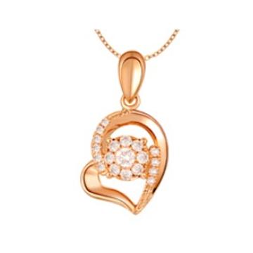 黄金珠宝投资-时尚吊坠系列心形项