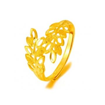 黄金珠宝投资黄金戒指系列时尚精美