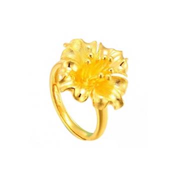 黄金珠宝投资黄金戒指系列时尚精致