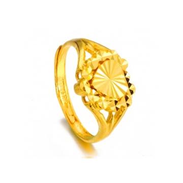 黄金珠宝投资黄金戒指系列心形戒指
